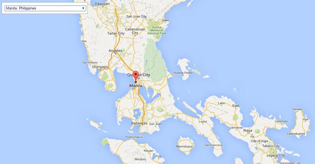 Map of Manila.